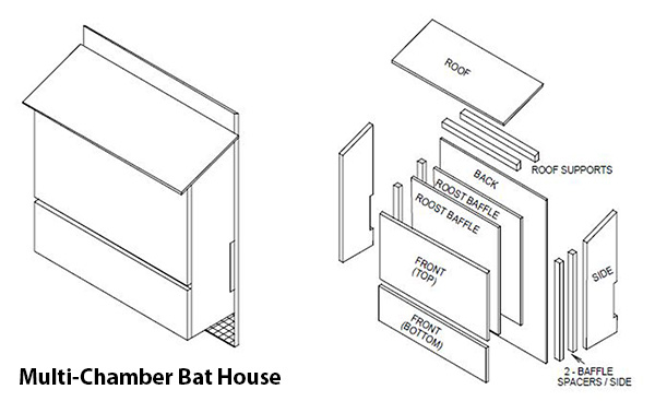 Multi Chamber Bat House